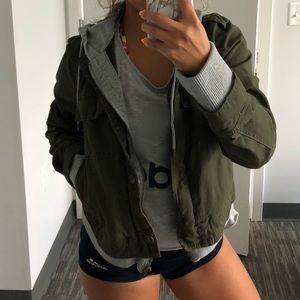 Military Jacket w/hoodie